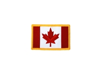 FLAG OF CANADA WITH GOLD FRAME PATCH