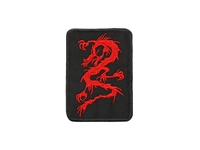 RED DRAGON ON BLACK PATCH