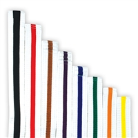 COLOR STRIPED WHITE BELT