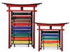 BUDO WALL MOUNTABLE BELT DISPLAY RACK