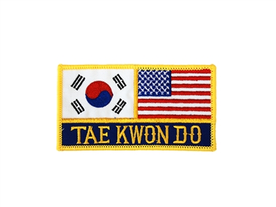 TAEKWONDO WITH FLAGS PATCH