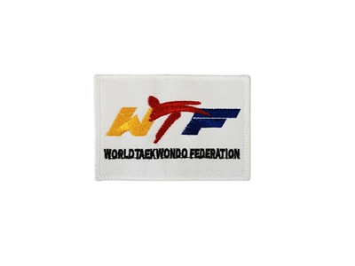 NEW THE WORLD TAEKWONDO FEDERATION SQUARE PATCH