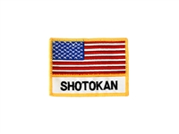FLAG OF USA & SHOTOKAN PATCH