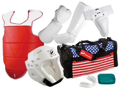 COMPLETE CLOTH SPARRING GEAR SET WITH BAG