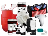 COMPLETE VINYL SPARRING GEAR SET WITH HAND & FOOT PROTECTORS