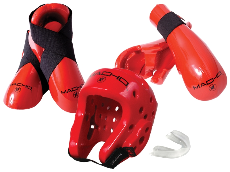 Red Dyna Sparring Gear Set
