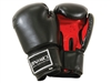 ELITE BLACK WITH RED PALM BOXING GLOVES