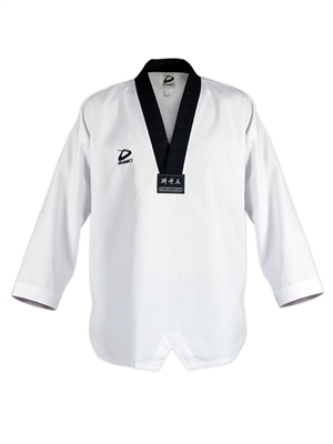 GENESIS TAEKWONDO UNIFORM TOP ONLY - Black Trim V neck