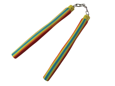 STRIPE RUBBER NUNCHAKU